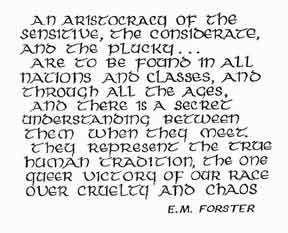 e m forster what i believe essay