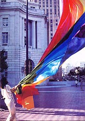 Gilbert Baker and first rainbow flag
