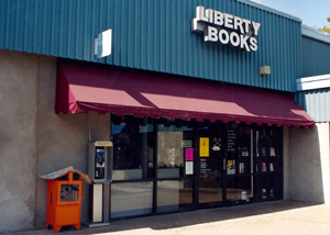 Liberty Books storefront 1990