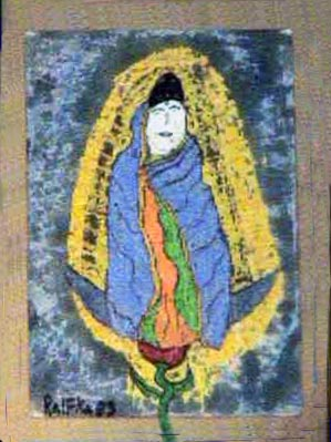Chenraizee as Our Lady of Guadalupe