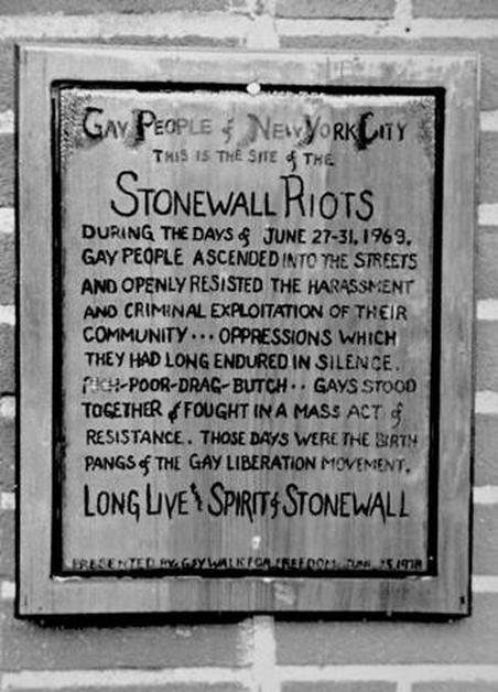 Stonewall plaque